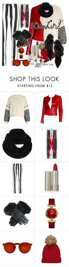 """Sweater Weather"" by goreti ❤ liked on Polyvore featuring Sportmax, Gucci, prAna, Off-White, Ilia, Versus, Illesteva, Schutz and wintersweater"
