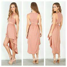 "Keepsake The Label Hi-lo Cut Out Dress NWT. Zip back closure. Armpit to armpit is 16"" across. Waist is 13"" across. Length in front is 33"" and in back 50"". Keepsake Dresses High Low"