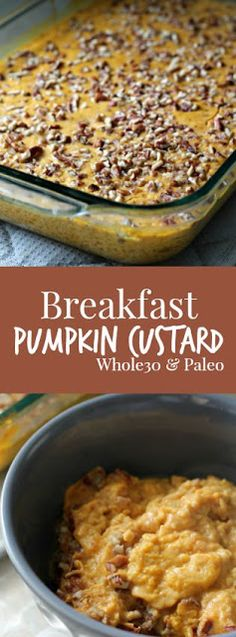 Breakfast Pumpkin Custard (Paleo/Whole30)