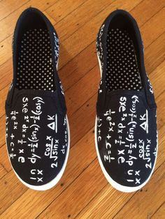 Math Hand Painted Shoes by maidenkentucky on Etsy