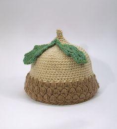 Acorn baby hat handmade crochet baby hat. #inspiration