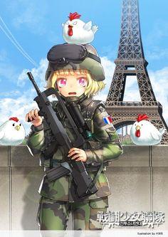 전투소녀연대-프랑스 육군