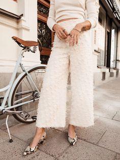 textured white on white street style