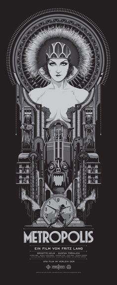 Metropolis by Ken Taylor--First movie I ever saw (I was five). It has shaped me and remained a force in my life to this day.