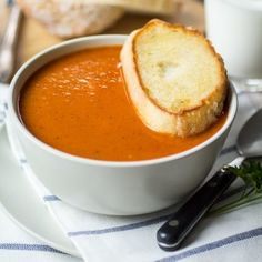 Bistro Style Blistered Red Pepper and Sun Dried Tomato Soup - The Wanderlust Kitchen