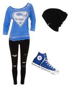 """""""Casual Supergirl"""" by athleticsammy ❤ liked on Polyvore featuring beauty, River Island, Converse and Patagonia"""