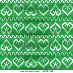 Ornamental Pattern For Knitting And Embroidery Heart Stock Photos, Images, & Pictures Fair Isle Knitting Patterns, Knitting Charts, Knitting Designs, Knitting Stitches, Knit Patterns, Cross Stitch Patterns, Motif Fair Isle, Fair Isle Chart, Fair Isle Pattern
