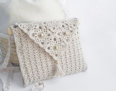 Click to view pattern for - White handbag