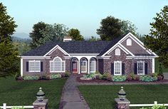 House Plan 74811   Craftsman Ranch Plan with 2000 Sq. Ft., 4 Bedrooms, 4 Bathrooms, 3 Car Garage at family home plans
