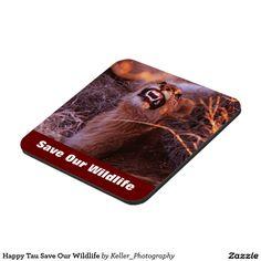 Happy Tau Save Our Wildlife Drink Coasters