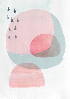 Abstract Organic Shapes Art Print CIRCLES 2 8x10 by AMMIKI, $20.00