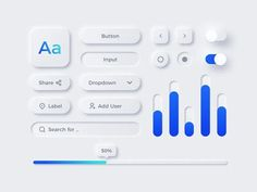 A minimal, clean and elegant free UI kit. A nice set of free neumorphic style UI elements that you can use on your next UI design projects. Designed and released by MazePixel. Freebie is available in Sketch file format. App Ui Design, Design Jobs, Design Responsive, Interaktives Design, Web Design Mobile, Crea Design, 2020 Design, Interface Design, Design Trends