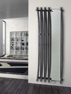 Bravo Mirror radiator: a practical and modern radiator with mirror and hooks. We recommend it for wardrobes, entrance halls and hallways. It is available in 200 colours. Panel Radiators, Vertical Radiators, Modern Radiators, Mirror Radiator, Radiator Ideas, Designer Radiator, Hallway Furniture, Home And Living, Tall Cabinet Storage