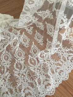 super gorgeous beaded alencon lace fabric in ivory for by lacetime