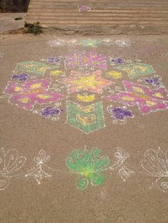 butterflies, violet, chevron and orange mandala.. i felt so blessed to see this on my daily walking route