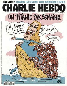 Charlie Hebdo - N° 1187 - Mercredi 22 Avril 2015 - Couverture de Luz