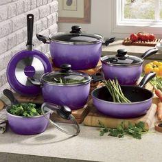 Seventh Avenue 10-Piece Nonstick Flair Cookware Set
