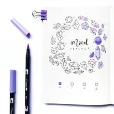 Get your bullet journal mood trackers here! Check out these 52 very cool mood tracker ideas for your bullet journal! Bullet Journal Tracker, Bullet Journal Daily, Bullet Journal Banners, Bullet Journal Spreads, Bullet Journal Aesthetic, Bullet Journal Ideas Pages, Bullet Journal Layout, Journal Inspiration, Bujo Inspiration