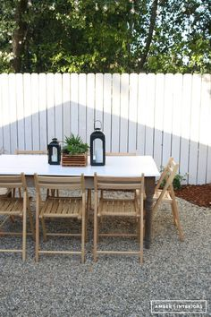 Create a simple but inviting outdoor dining space for you family. It's easy!