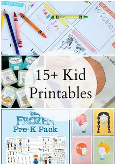 Great printables to bring with you on visits! 15 Kid Printables