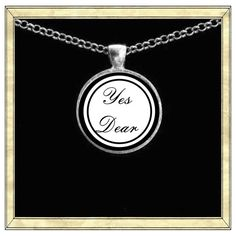 Yes Dear  Handmade pendant bezel with glass tile by IttyBaubles, $13.95