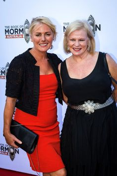 Kate Kendall and Collette Mann arrive ahead of The Book of Mormon opening night at Princess Theatre on February 4, 2017 in Melbourne, Australia.
