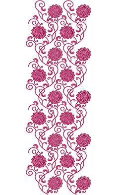 8058 Allover Design Border Embroidery Designs, Bead Embroidery Patterns, Beaded Bracelet Patterns, Textile Patterns, Zardozi Embroidery, Embroidery Dress, Beaded Embroidery, Wall Drawing, Patch Design