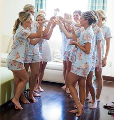 Matching PJs for Bridesmaids instead of matching robes