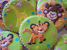 Jungle themed baby shower cookies | Julie | Flickr