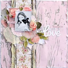 Kaisercraft Cottage Rose - All You Need Is Love by Belinda Spencer