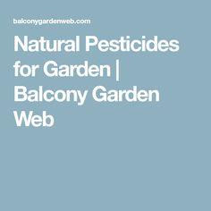 Natural Pesticides for Garden | Balcony Garden Web