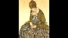 Portrait of Edith Schiele with Striped Dress (Credit: Credit: Portrait of Edith Schiele with striped dress/Egon Schiele/Wikimedia Commons)