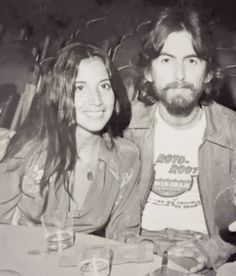 George Harrison and his wife Olivia Arias. Olivia Harrison, George Harrison Wife, King George, Liverpool, John Lennon Paul Mccartney, Jazz, She Loves You, The Fab Four, Ringo Starr