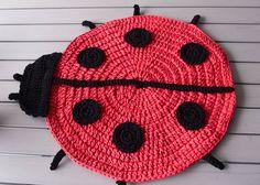 Ganxxet Fabric Yarn Ladybug Rug