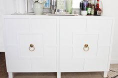 DIY Ikea Hack | Besta Cabinet Two Ways - Glam Latte