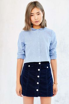 Cooperative Peter Pan Collar Button-Down Shirt - Urban Outfitters