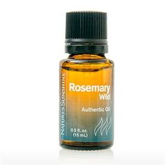 Nature's Sunshine Authentic Essential Oil- Rosemary Clear and Refreshing With a unique herbal, cooling scent Rosemary has long been revered by healers for its versatile properties. •Stimulates memory •Helps combat emotional fatigue •Useful in hair and scalp treatments