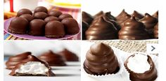 BESITOS DE CHOCOLATE DULCE TENTACIÓN, Si te gusta dinos HOLA y dale a Me Gusta MIREN … | Receitas Soberanas