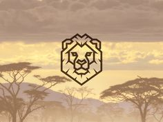 Lion Head designed by Daniel Bodea. Connect with them on Dribbble; Lion Icon, Trishul Tattoo Designs, Lion Drawing, Sketches Of Love, Mountain Drawing, Elegant Logo, Pictogram, Art Logo, Graphic Design Illustration