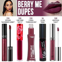 of Colors Berry Me Liquid Lipstick Dupes Dose o. Dose of Colors Berry Me Liquid Lipstick Dupes Dose o. Berry Lipstick, Lipstick For Fair Skin, Velour Liquid Lipstick, Lipstick Dupes, Lipstick Swatches, Makeup Swatches, Lipstick Shades, Lipstick Colors, Lip Colors
