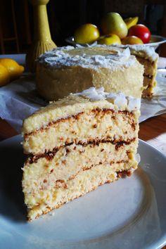 Bezglutenowy kokosowy tort mango z jaglanym kremem, ciasto Piňa Colada Vegan Cheesecake, Vegan Cake, Sweets Cake, Fun Desserts, Awesome Desserts, Food Cakes, Pina Colada, Raw Vegan, Vanilla Cake