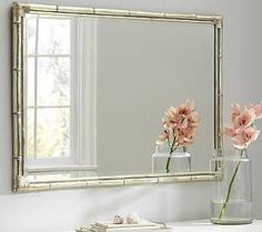 Will need a large mirror  Bamboo Silver Gilt Wall Mirror ...