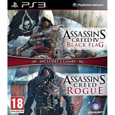 Compilation: Assassins Creed 4 - Black Flag + Assassins Creed Rogue, PlayStation 3, Action/Adventure