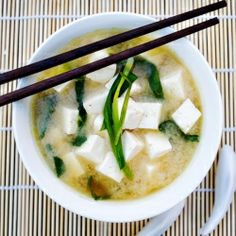 Miso soup is such a simple, balancing, Japanese addition to meals. So lovely and warm. I always feel better after a bowl of Miso soup.
