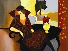 artist tarkay itzchak   autumn repose 1372