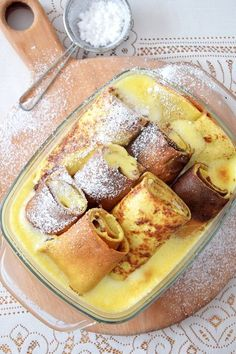 Dessert Dishes, Something Sweet, Camembert Cheese, French Toast, Food And Drink, Sweets, Breakfast, Recipes, Polish