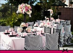 Parisian Theme - So pretty`~tall black vase w pink flowers is pretty