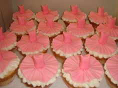 -Ballet tutu cupcakes by jouj on Cake Central Tutu Cupcakes, Ballerina Cupcakes, Baby Ballerina, Ballerina Birthday Parties, Ballerina Party, Girl First Birthday, 10th Birthday, Birthday Cake, Dance Cakes
