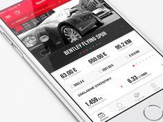 Spotreba App homepage by Milan Chudoba Mobile App Ui, Mobile App Design, App Login, Web Ui Design, Ui Ux, User Interface, Milan, Gallery, Fun