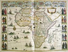 Willem Janszoon Blaeu. Map of Africa, from Le théâtre dv monde. 1640-43. Case oversize G 1007 .1.